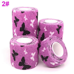 1 pcs Printed Medical Self Adhesive Elastic Bandage 4.5m Colorful Sports Wrap Tape