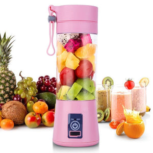 380ml USB Rechargeable Portable Blender Mixer 6 Blades Juicer Juice Citrus Lemon Vegetable Fruit Smoothie Squeezers