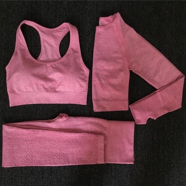 Women Seamless Fitness Sports Suits