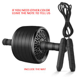 Ab Roller&Jump Rope No Noise Abdominal Wheel