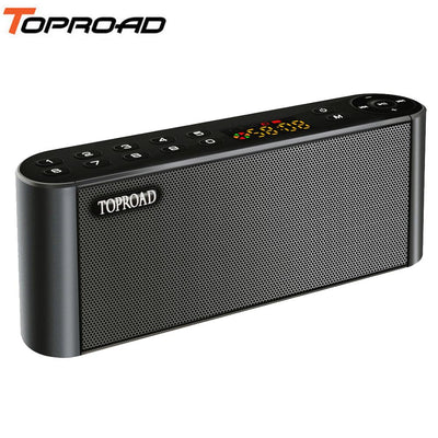 TOPROAD Wireless Bluetooth Speakers Portable Enceinte Sounder Handsfree MP3 With Mic TF FM HIFI Subwoofer Deep Bass Loudspeakers