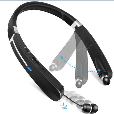 TOPROAD Outdoor Sports Wireless Headphone Foldable Bluetooth Headset Earphone Support Mic Handsfree Call Retractable Earbuds