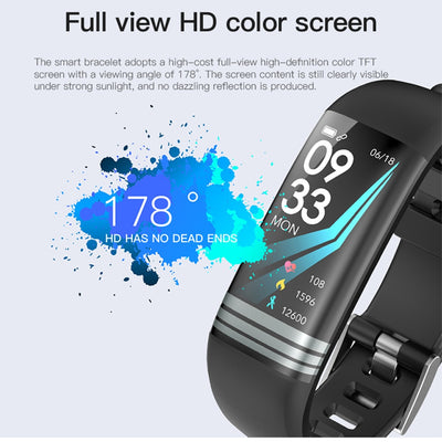 G26 Smart Fitness Bracelet Color Screen Waterproof Heart Rate Blood Pressure Oxygen Sport Watch Band For Men Women