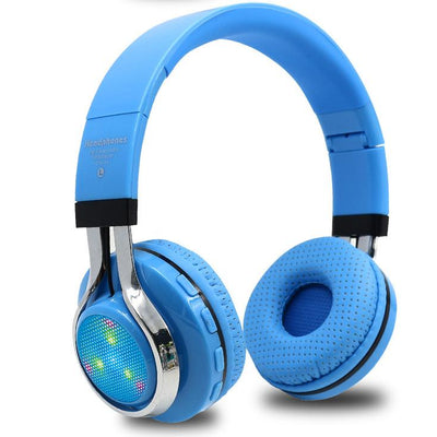 TOPROAD Glowing Wireless Bluetooth Headphone Portable Headset Stereo Heavy Bass Earbuds LED Mic TF FM