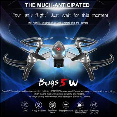 2.4GHZ 5G WiFi GPS Altitude Headless Quadcopter Drone with 1080P Camera