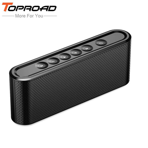 TOPROAD Portable Bluetooth Speaker Hifi Wireless Stero Soundbox  with Mic Support TF USB