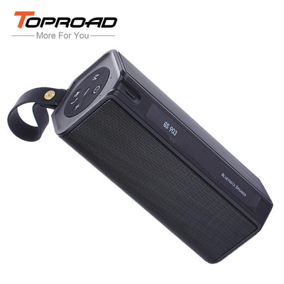 TOPROAD Bluetooth Speaker Portable Wireless Sound System 3D Stereo Music Surround IPX4 Waterproof Support FM AUX TF Power Bank
