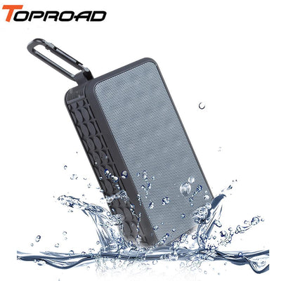 TOPROAD IPX6 Waterproof Bluetooth Speaker Hi-Fi Wireless Soundbar Outdoor Sports Music Soundbox Support FM Radio TF USB