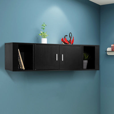 2 Cube Wall Mounted Floating Hutch 2 Door