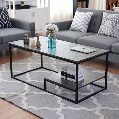 2-Tier Coffee Cocktail Accent End Table