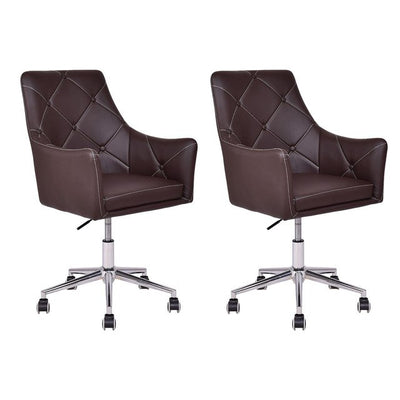 2pcs Home Office Task Chair PU Leather