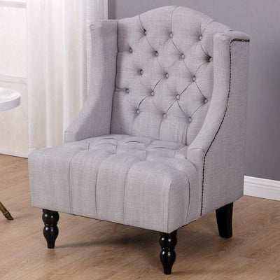 Modern Tall Wingback Tufted Accent
