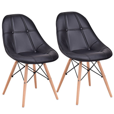 Set of 2 Dining Side Chair Modern Armless