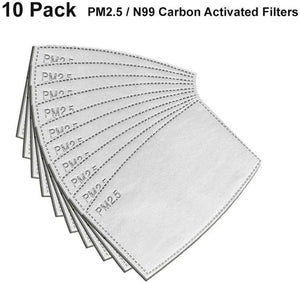 10pcs PM2.5 Activated Carbon 5 Layer Filter for Mask