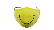 Load image into Gallery viewer, Yellow Smiley Washable Face Mask