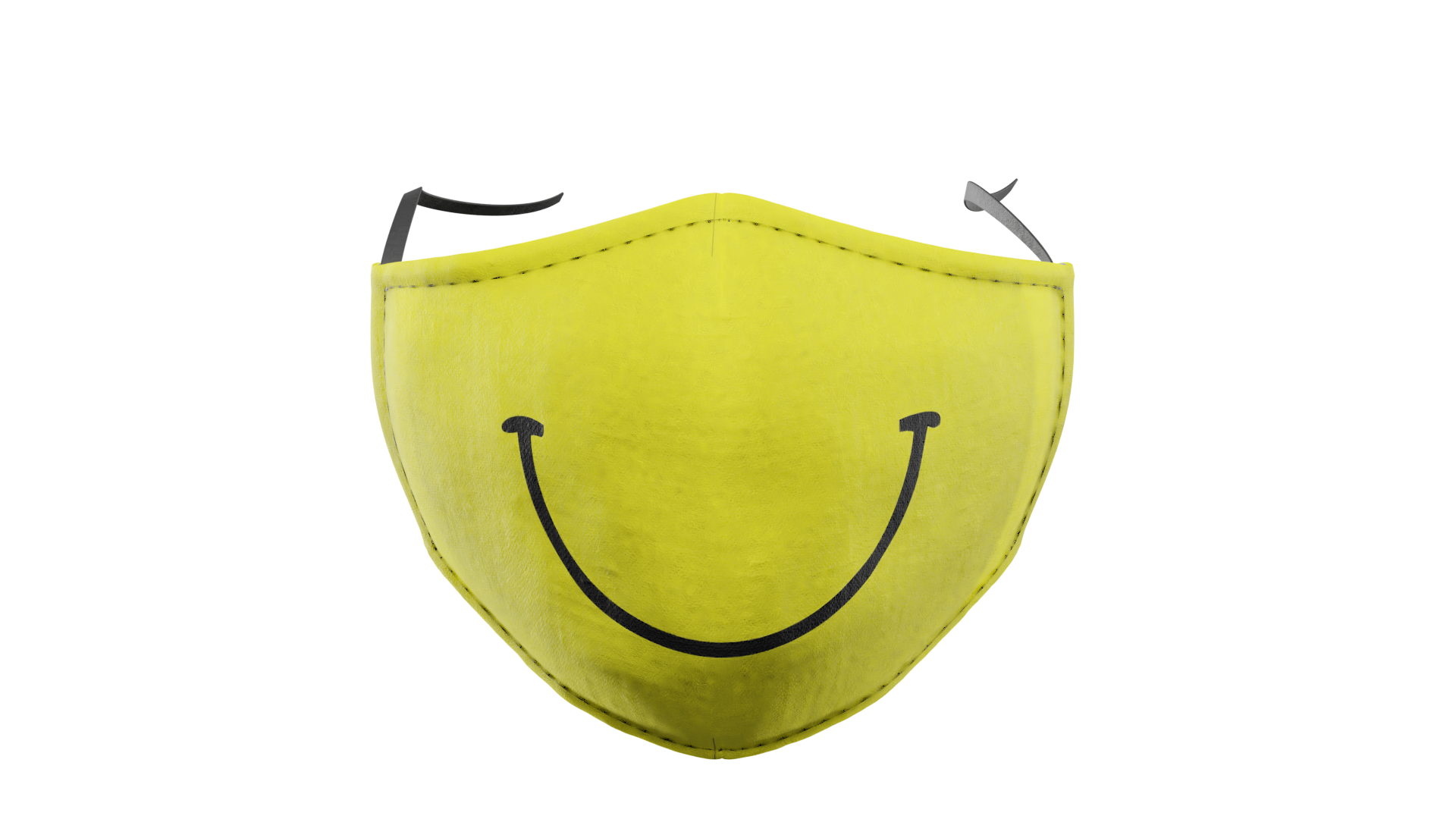 Yellow Smiley Washable Face Mask