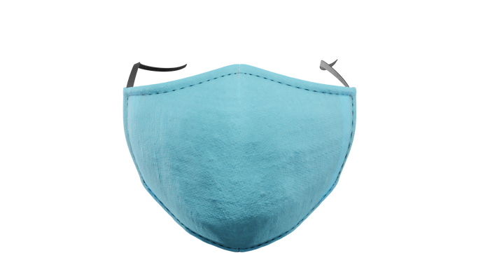Plain Light Blue Washable Face Mask