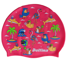 Load image into Gallery viewer, Pool Party Silicone Swim Cap