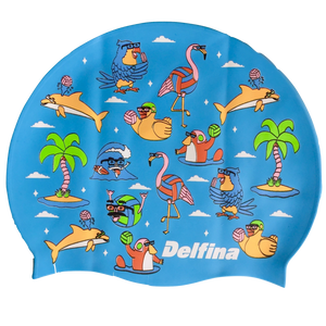 Pool Party Silicone Swim Cap