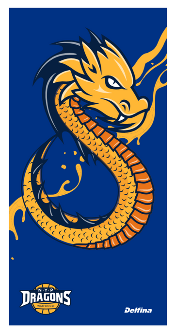 NYP Dragons Towel - Blue