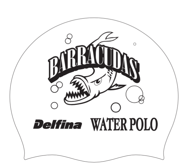 White Barracudas Swim Cap