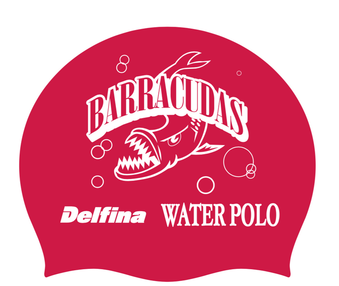 Red Barracudas Swim Cap
