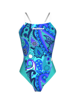 Load image into Gallery viewer, Blue Paisley Lightback Swimming