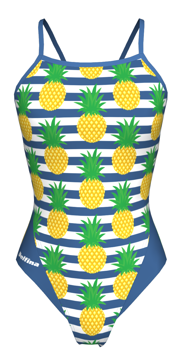 Pineapple Tie Back Swimming