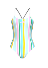 Load image into Gallery viewer, Striped Summer Female Swimming