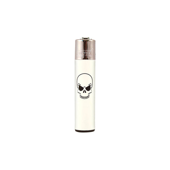 Clipper Single Skull Edition Refillable Lighter