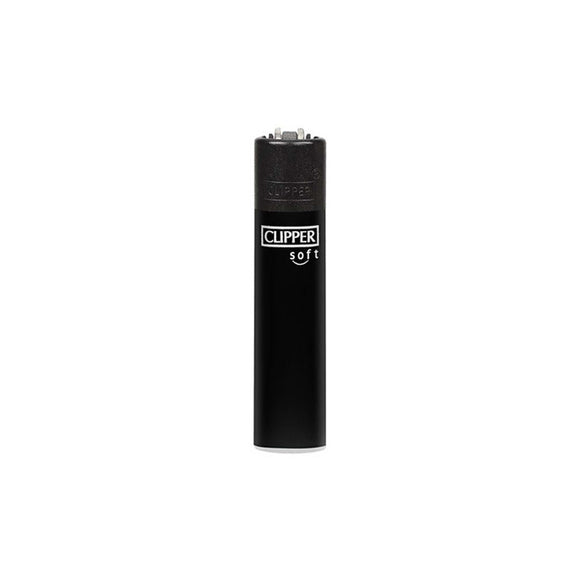 Clipper Soft Solid Black Refillable Lighter