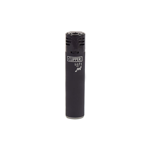 Clipper Soft Jet Black Refillable Lighter