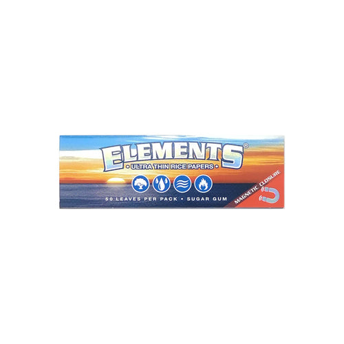 Elements Rice Rolling Paper Ultra Thin Leaf Butler