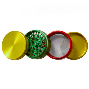 Rasta Space Case Grinder and Pollen Collector Medium 2.5""