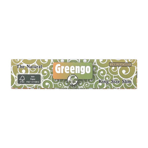 Greengo King Size Rolling Paper Unbleached Leaf Butler