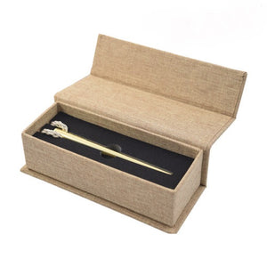 Raw Gold Poker Open Box Leaf Butler