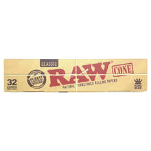 Load image into Gallery viewer, RAW Classic King Size Cones - 32/Box