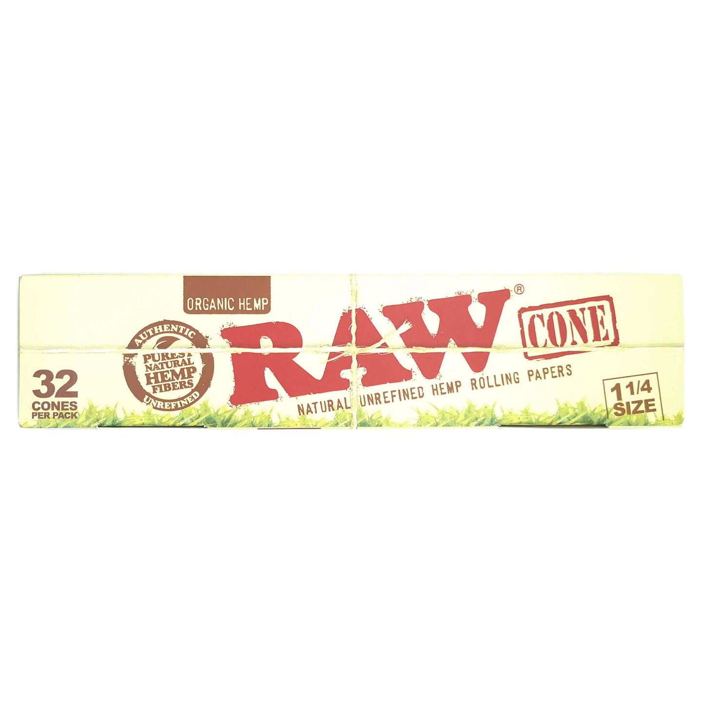 Raw Organic Pre Roll Cones One and One Quarter 32 Per Pack