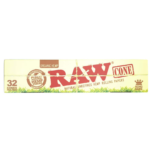 RAW® Organic King Size Cone - 32/Box