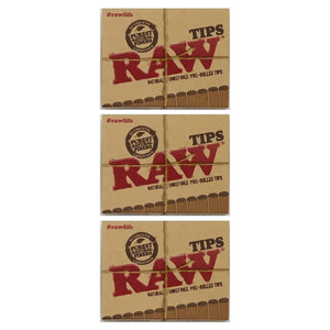 Raw Pre + Rolled Tips 3 Pack Leaf Butler