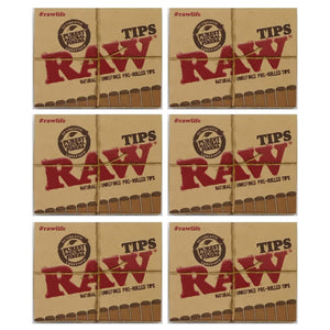 Raw Pre Rolled Tips 6 Pack Leaf Butler