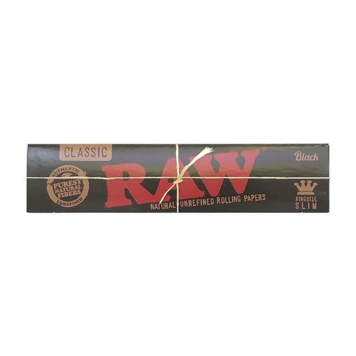 Raw Black King Size Rolling Papers Leaf Butler