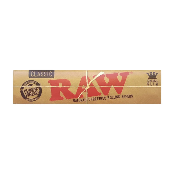 Raw Classic King Size Rolling Paper 32 Leaves Per Pack