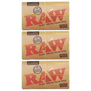 Raw Classic Single Wide Rolling Paper Multi Pack Leaf Butler