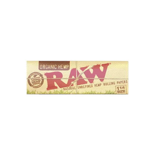 Raw Organic 1 and 1 quarter Rolling Paper