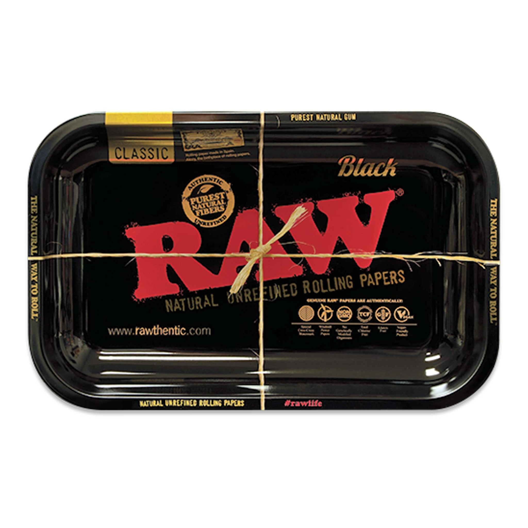RAW® Black Rolling Tray - Limited Edition