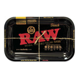 RAW Black Metal Rolling Tray - Limited Edition