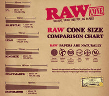 Load image into Gallery viewer, Raw Classic Lean Cones - 20/Box