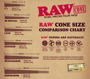 RAW Wiz Khalifa Peacemaker Cone - 3/Pack