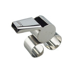 Fingergrip Metal Whistle